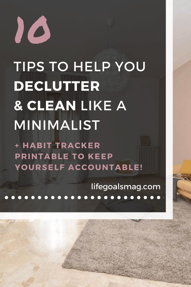 Declutter like a minimalist. Less effort with a clean living space.
