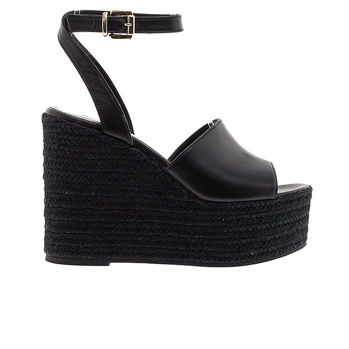 653N01-BLACK LEATHER www.mourtzi.com #wedges#platforms #mourtzi #greekdesigners #blackshoes
