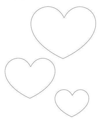 Moldes de coração #feltro #artesanato #molde #diy #pap #passoapasso #tutorial…