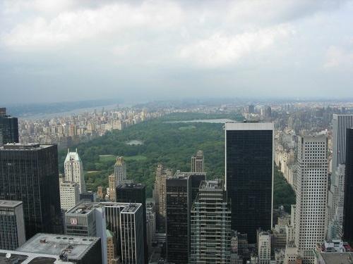 """Utsikt över Central Park by Flygstolen, via Flickr #NewYork """"NY #CentralPark #ChryslerBuilding"""