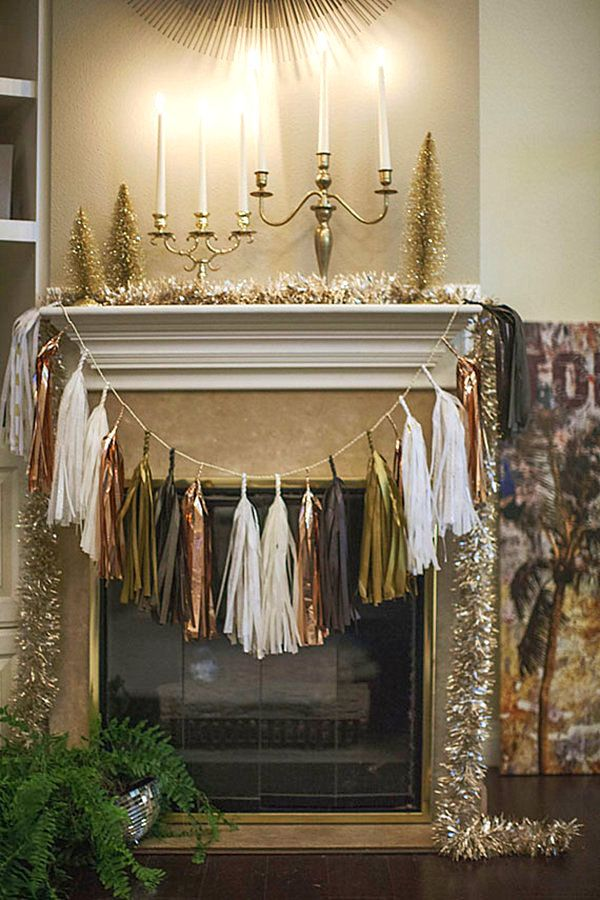 Christmas decor makes great New Year's Eve bling