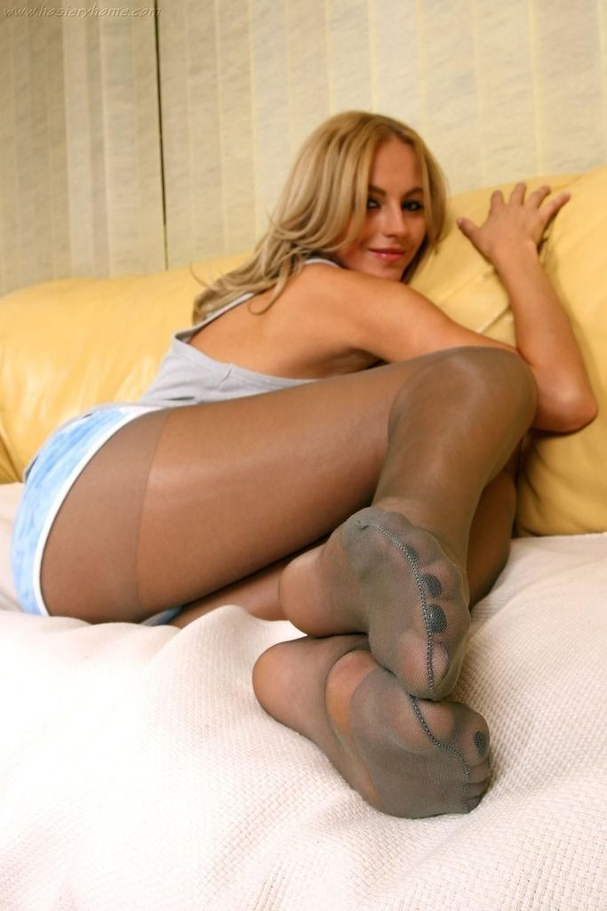 Pantyhose foot fetish girls congratulate, your