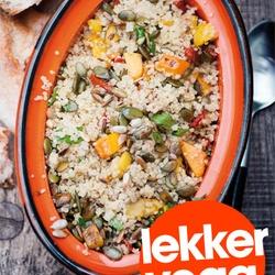 ZTRDG: Quinoa-pompoensalade met zongedroogde tomaatjes en lijnzaad