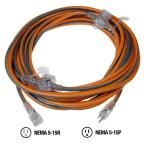 50 ft. 14/3 3-Outlet In-Line Extension Cord