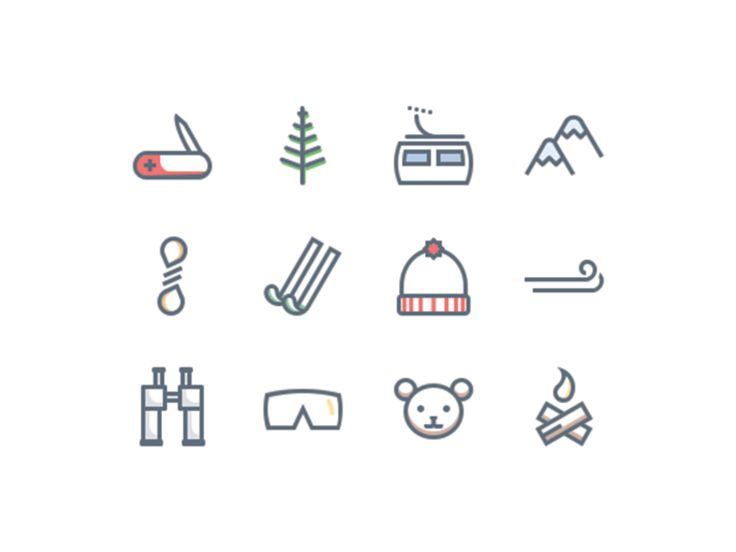 Season's greetings! Today we're giving away a set of 12 ski roadtrip inspired icons. Download and enjoy!
