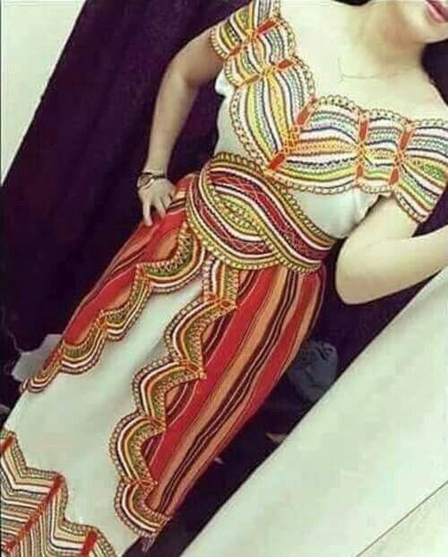 Robe kabyle Algérienne #algeriantraditionaldresses #Algérie #الجزائر #Algeria
