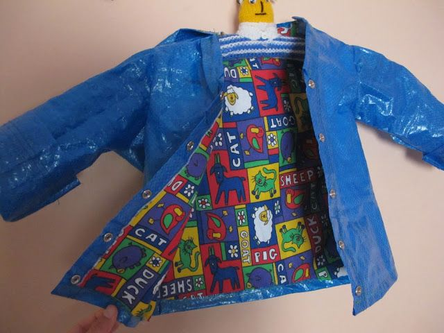 Kid's raincoat from Ikea bag. Really cool. Maybe my dream of a Nice raincoat Will finally become true