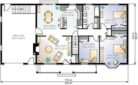 Eso es el plano de nuestra casa hay 6 habitaci nes y el for Casa de una sola planta planos