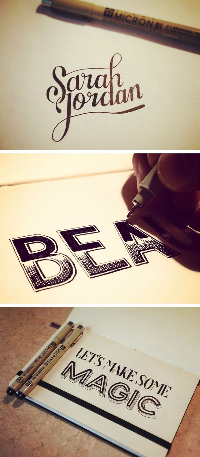hand lettering by seanwes