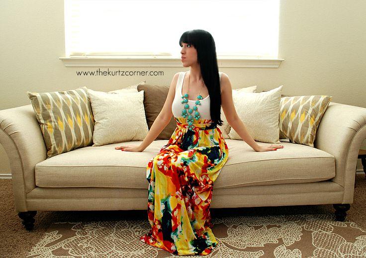 DIY Maxi DressDiy Ideas, Maxi Dresses, Crafts Ideas, 850 600 Pixel, Maxis Dresses Tutorials, Kurtz Corner, Knits Sewing Ideas, Crafts Sewing, Diy Maxis