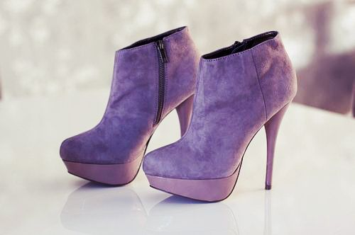 All colours of the rainbow: Fashion Shoes, High Heels Boots, Purple, Color, Ankle Boots, Inspiration Pictures, Styles, Haute Couture, Couture Fashion