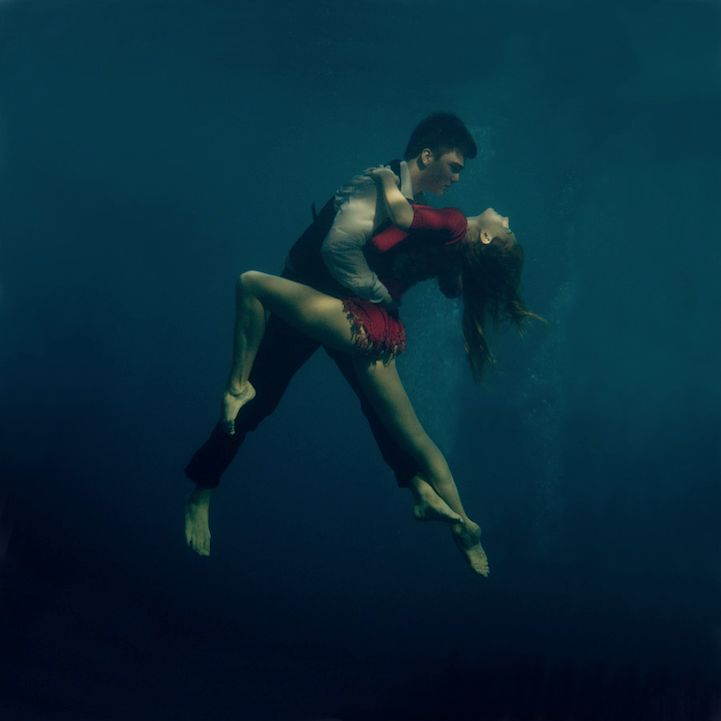 Passionately Dancing the Tango Underwater by Russian artist Katerina Bodrunova