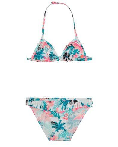 15607151362207 #blueflamingofashion - Indian Blue Jeans Bikini - Triangle Top - Flamingo