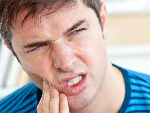 Symptom: Toothache If your mouth or jaw hurt, it could be from a toothache. Toothaches usually indicate a cavity but they can also signal gum disease. In some cases, a toothache is a sign of an abscess or impacted tooth. A toothache should be evaluated by a dentist right away to determine the cause of the problem and prevent the tooth from dying.