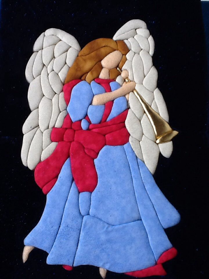 Ángel patchwork sin aguja