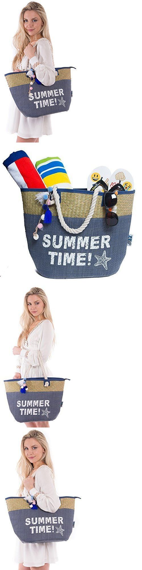 Totes Duffel Bags 152368: Pier 17 Mariner Canvas Beach Bag Tote For Beach And Travel Navy, New -> BUY IT NOW ONLY: $35.44 on eBay!