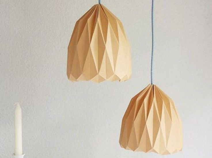 DIY-Anleitung: Origami-Lampenschirm zum Aufhängen falten via DaWanda.com