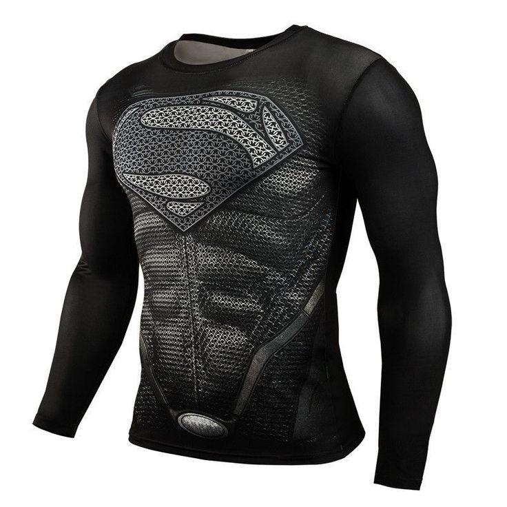Superman Bodybuilding Long Sleeve 3D T Shirt