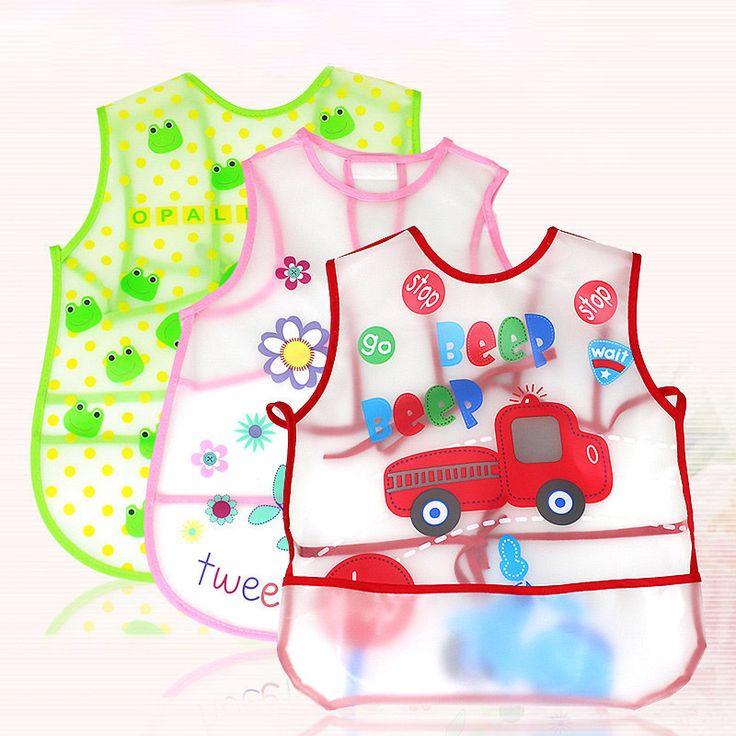 Baby Bibs Baberos Bebes Waterproof EVA Toddler Scarf Bibs Cute Cartoon Burp Cloths Feeding Care Baby Bibs Boys Girls Infants