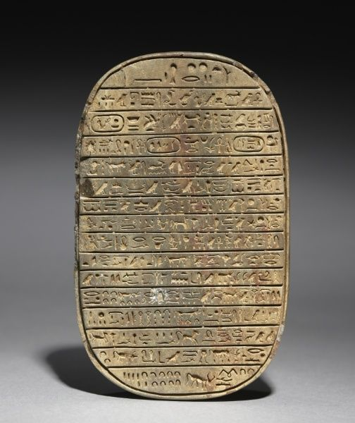 Wild Bull Hunt Scarab of Amenhotep III, c. 1391-1353 BC                                                Egypt, New Kingdom, Dynasty 18, reign of Amenhotep III
