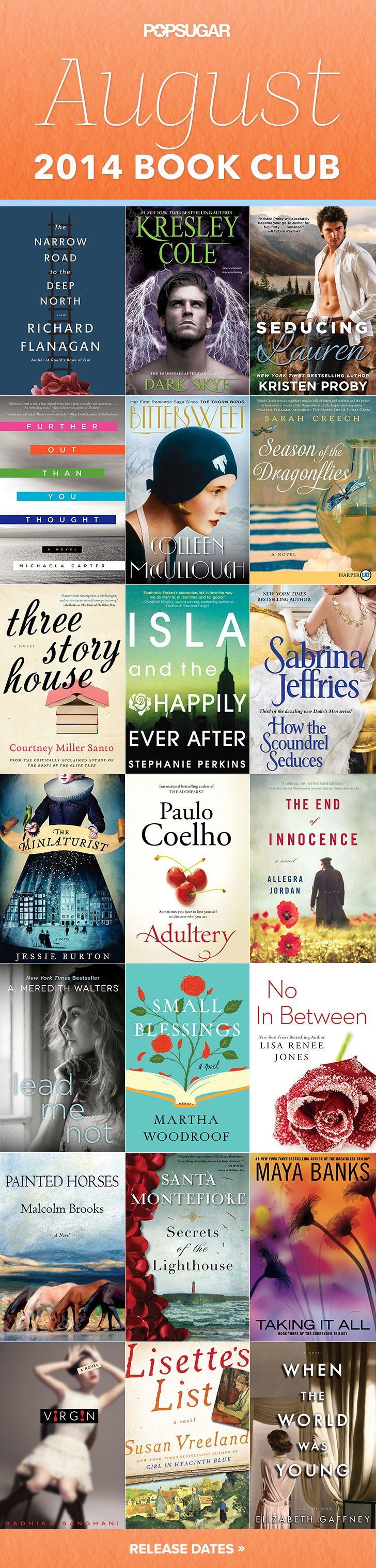 August 2014 book club: 21 new books out this month!