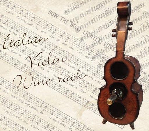 ヴァイオリンデザイン・ ワインラック(木製)