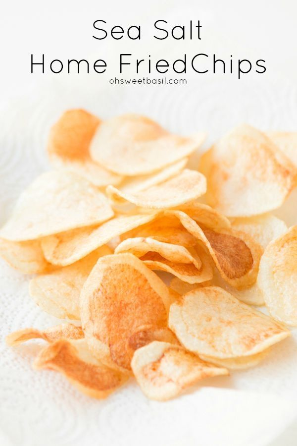 Home fried chips with sea salt. Kind of the most addicting thing ever ohsweetbasil.com