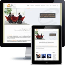 ISC Recruitment Company website built with Wordpress using responsive web design.