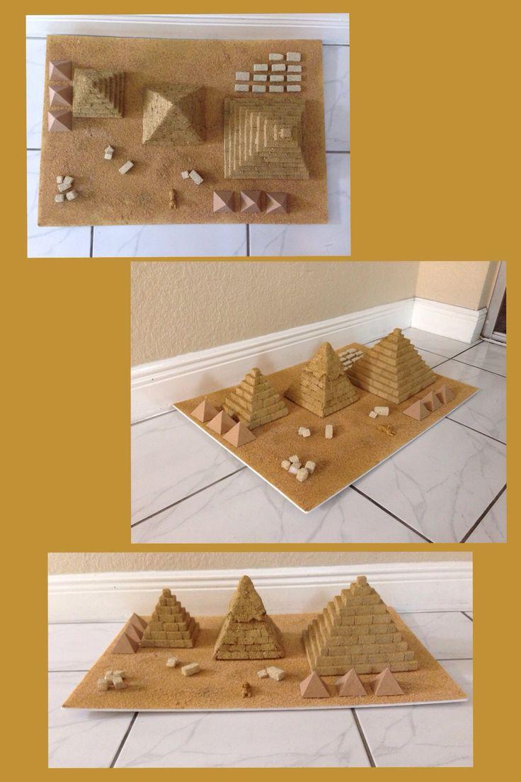 Pyramids of Egypt. School project.