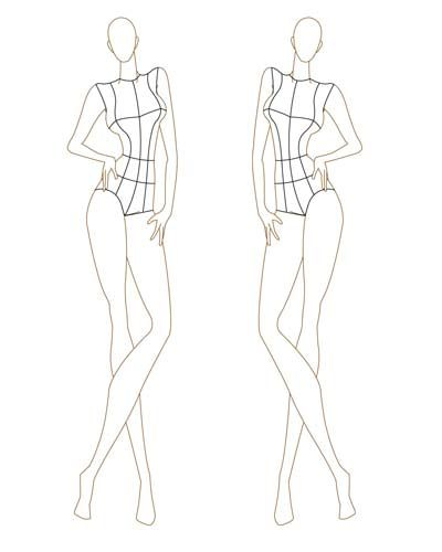 free downloadable croquis for fashion drawing