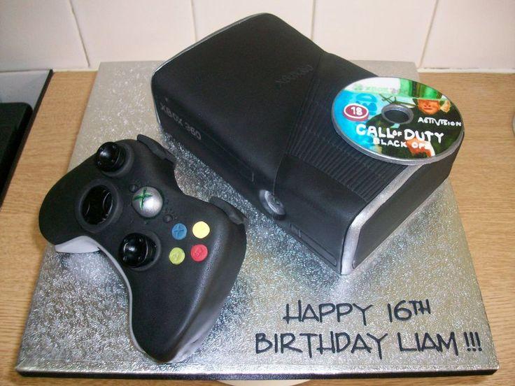 new black xbox 360 console controller cake