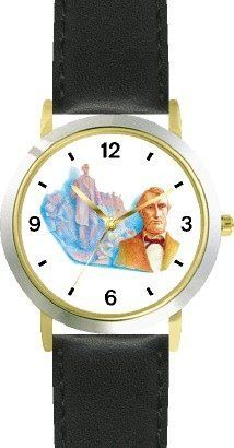 Abraham Lincoln (Honest Abe) - 16th US President - WATCHBUDDY® DELUXE TWO-TONE THEME WATCH - Arabic Numbers - Black Leather Strap-Size-Children's Size-Small ( Boy's Size & Girl's Size ) WatchBuddy. $49.95. Save 38% Off!