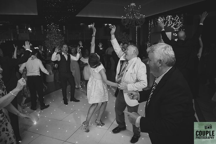 Guests dancing! Weddings at Cabra Castle photographed by Couple Photography.