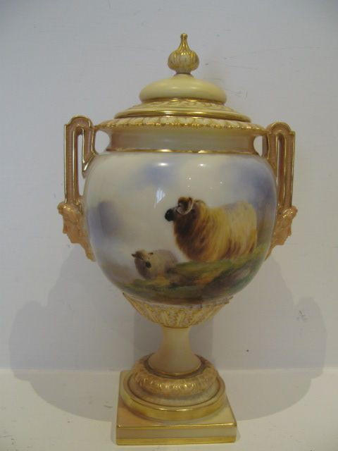 Royal Worcester-Cattle,Pheasants, Sheep Etc at James Hardy Antiques Ltd - by Harry Davis.