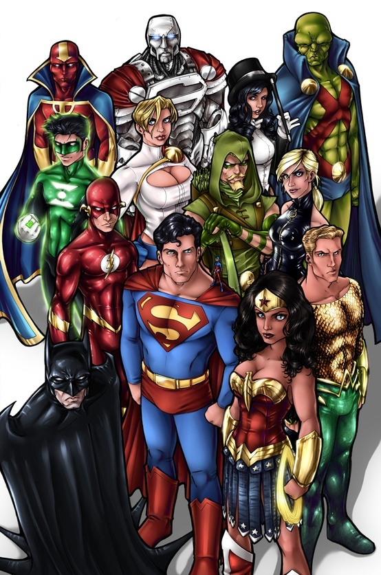 The Women Of Dc Comics Ink In Adam Withers S Dc Comics: 1000+ Images About The Justice League On Pinterest