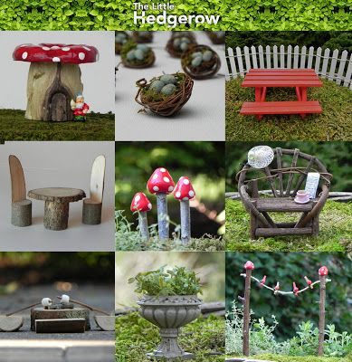 cheap Fairy Garden Furniture..There are a couple in here with just the fairies looking at flowers, that might be a good place to start!