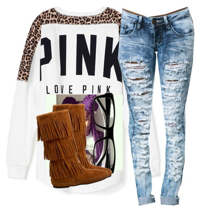 Untitled #2070 by itzmealisia on Polyvore featuring polyvore, fashion, style, Victoria's Secret PINK and Minnetonka