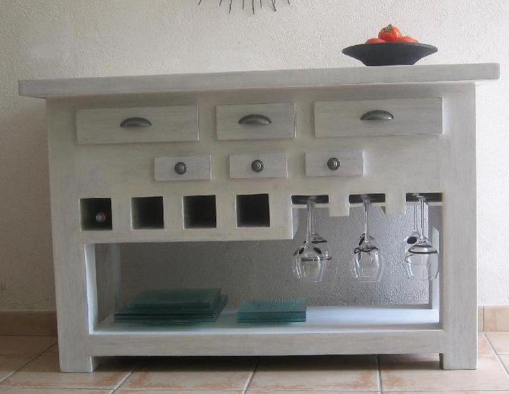 tutoriel table console de cuisine fonctionnelle tout en carton crations en carton cartonnage - Tuto Meuble Salle De Bain