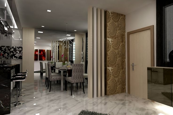 Dining Room:Contemporary Dining Room Ceiling With White Floral Wooden Chair Black Glass Table White Chandelier Black Bar Stool Black Kitchen Cabinet Floral Floor Dawnlight Modern Dining Room Ceiling Decorating Ideas