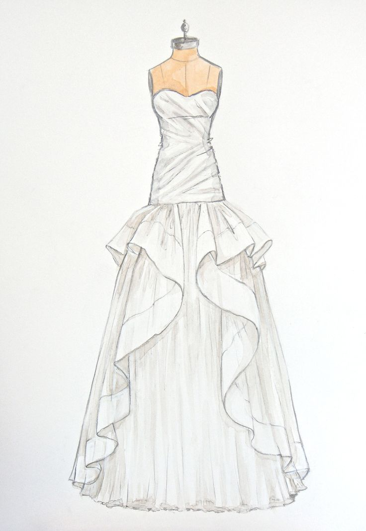 64 best wedding dress sketches images on pinterest