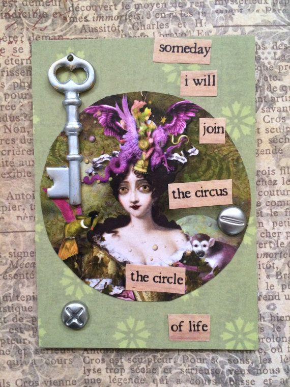 The Circus Another ACEO By AlteredHead  ACEO Artist by Alteredhead
