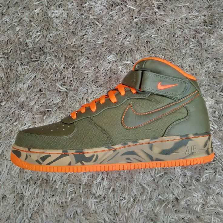 Nike Air Force 1 Premium Mid '07 (Army Olv/Army Olv-Army-Orn)