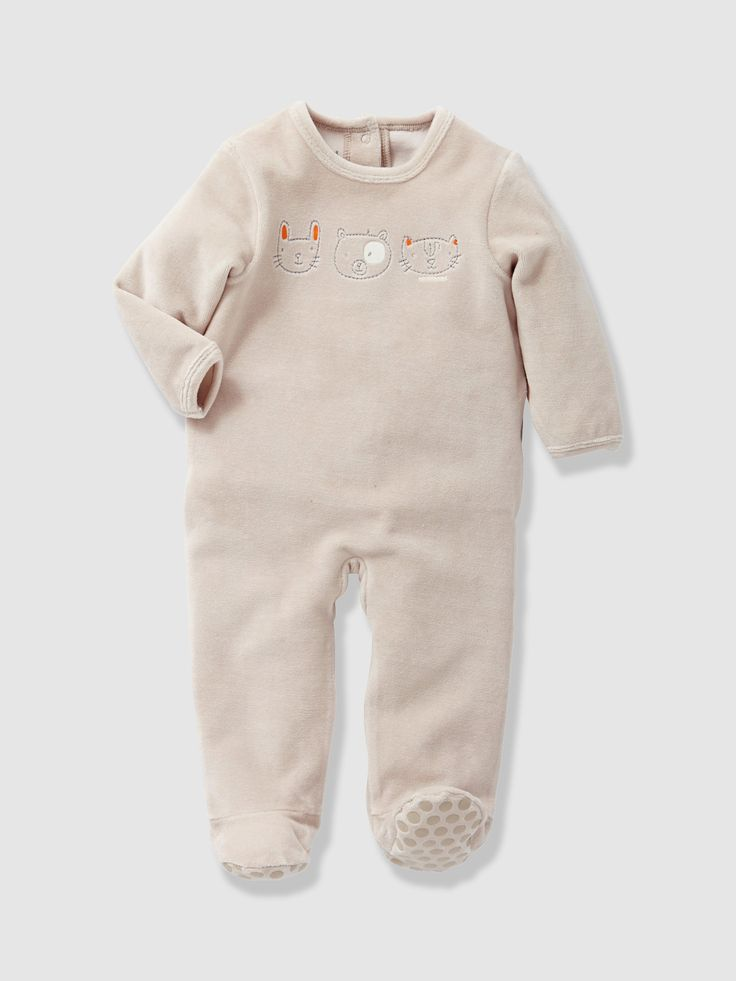 For just £4.90, the cute little bears, rabbits and cats printed on this sleepsuit will help baby drift away to sleep!
