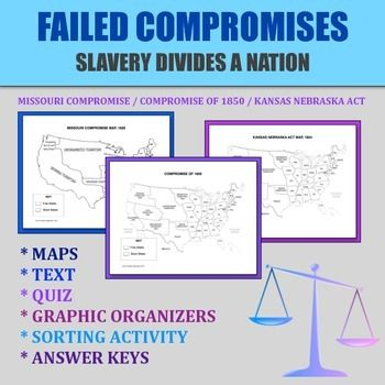 Printables Missouri Compromise Worksheet 1000 ideas about missouri compromise on pinterest cycle 3 cc failed compromises how slavery divided a nation of 1850