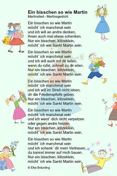 Ein bisschen so wie Martin möcht´ ich manchmal sein – Märchenfrau – Geschichten, Märchen und Gedichte