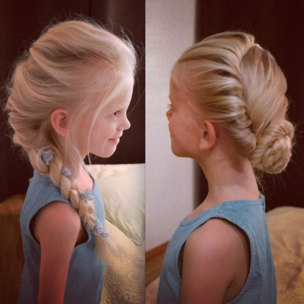 Frozen hairstyles for little girls - will have to grow her hair just so we can do this lol