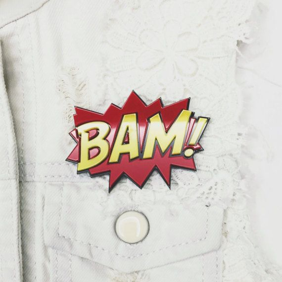 Comics acrylic pin brooch BAM 3D fashion accessory for bag