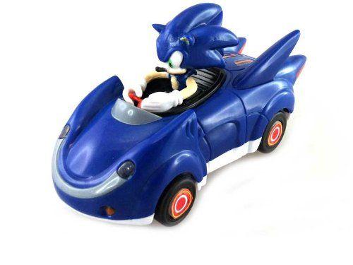 Amazon.com: NKOK Sonic and Sega All-Stars Racing Pull Back Car - Sonic the Hedgehog: Toys & Games