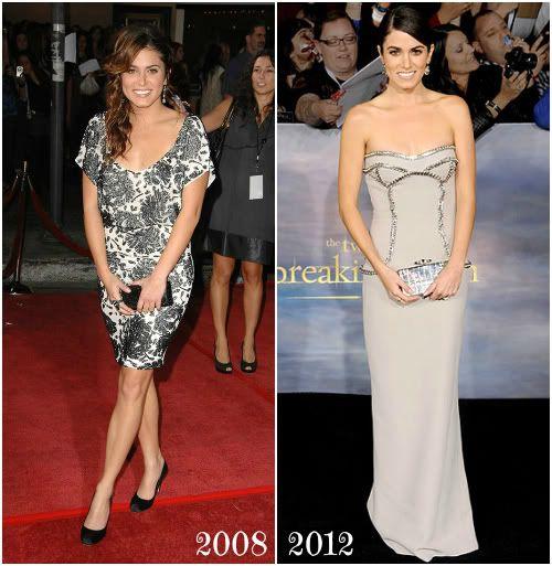 Nikki Reed 2008 & 2012 #twilight #twilightsaga