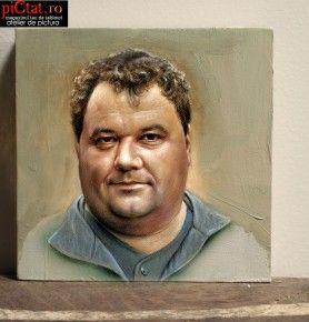 Tablouri pictate: Portret barbat portrete pictate in ulei pe panza comanda pentru un cadou din partea colegilor de birou